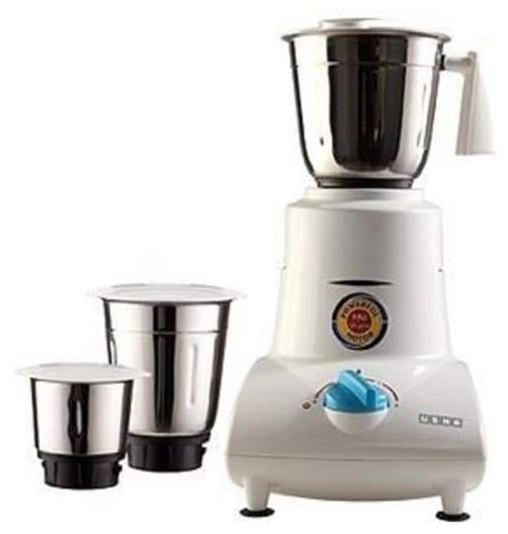 Usha MG-2753 500W Mixer Grinder (White, 3 Jar)