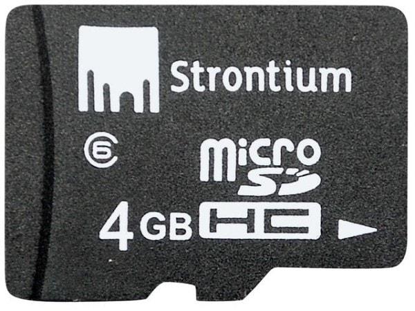 Strontium 4GB MicroSD Class 6 Memory Card (24MB/s)