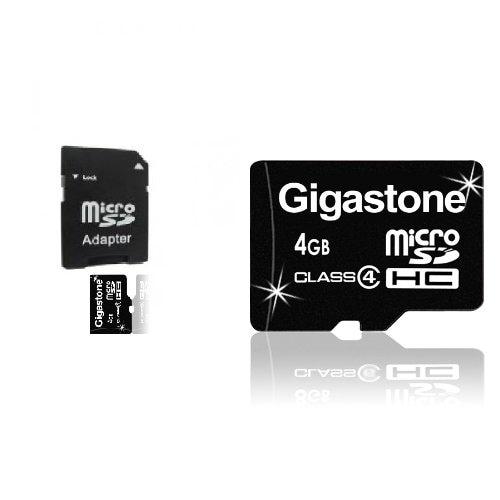 Gigastone 4GB MicroSDHC Class 4 Memory Card