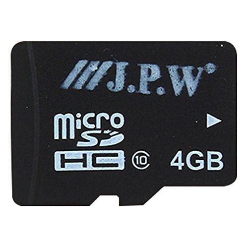 Jpw 4GB MicroSHDC Memory Card (Black)