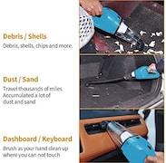 Ailianer Mini Car Vacuum Cleaner (Blue & White)