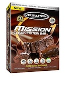 MuscleTech Mission 1 Clean Protein Bar (Chocolate Brownie, 60GM, Pack of 4)