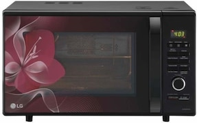 LG MJ2886BWUM 28 L Convection Microwave Oven (Floral Red)