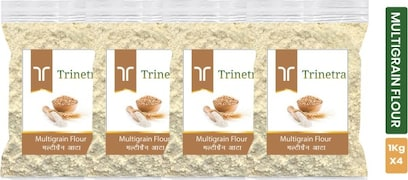 Trinetra Multigrain Flour (1KG, Pack of 4)