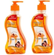 Santoor Natural Germ Protection Hand Wash (215ML, Pack of 2)