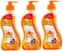 Santoor Natural Germ Protection Hand Wash (215ML, Pack of 3)