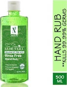 NutriGlow Naturals Tea Tree & Aloe Vera Rinse Free Hand Rub Hand Sanitizer (500ML)