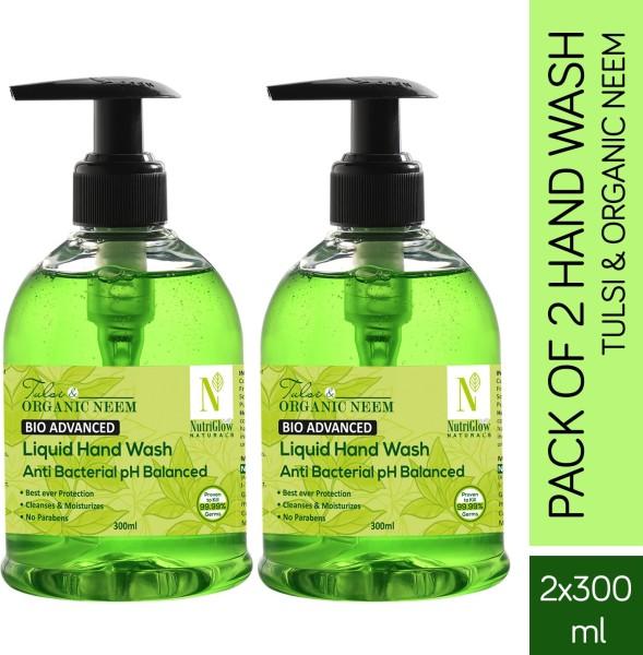 NutriGlow Naturals Tulsi & Organic Neem Hand Wash (300ML, Pack of 2)