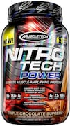 MuscleTech Nitro Tech Power Ultimate Muscle Protein Dietary Supplements (Triple Chocolate Supreme, 907GM)