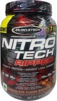 MuscleTech Nitro Tech Ripped Ultimate Protein Plus Dietary Supplements (Chocolate Fudge Brownie, 907GM)