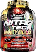 MuscleTech Nitro Tech Whey Gold Protein Dietary Supplements (Strawberry, 2.72KG)