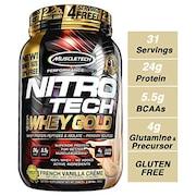 MuscleTech Nitro Tech Whey Gold Protein Dietary Supplements (Vanilla, 999GM)