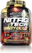 MuscleTech Nitro Tech Whey Gold Protein Dietary Supplements (Double Rich Chocolate, 2.72KG)