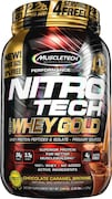 MuscleTech Nitro Tech Whey Gold Protein Dietary Supplements (Chocolate Caramel Brownie, 1.02KG)
