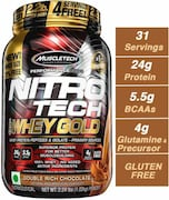 MuscleTech Nitro Tech Whey Gold Protein Dietary Supplements (Double Rich Chocolate, 1.02KG)