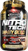 MuscleTech Nitro Tech Whey Gold Protein Dietary Supplements (French Vanilla Creme, 999GM)