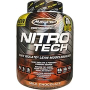 MuscleTech Nitro Tech Whey Isolate Plus Dietary Supplements (Milk Chocolate, 1.80KG)