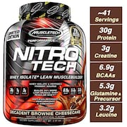 MuscleTech Nitro Tech Whey Isolate Plus Dietary Supplements (1.80KG)