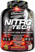 MuscleTech Nitro Tech Whey Isolate Plus Dietary Supplements (Vanilla Birthday Cake, 1.80KG)