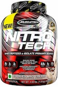 MuscleTech Nitro Tech Whey Isolate Plus Dietary Supplements (Cookies And Cream, 1.81KG)