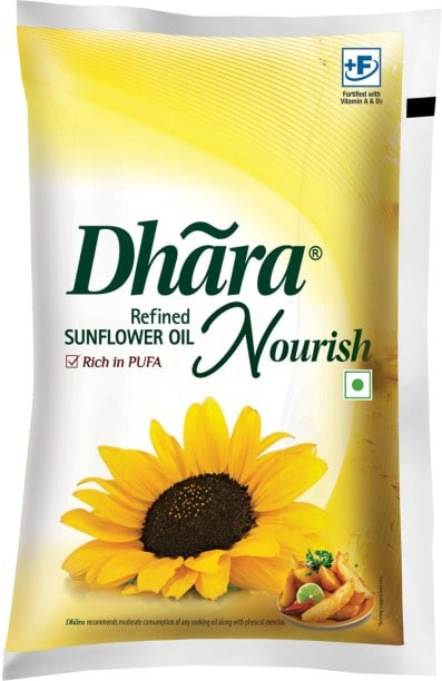 DHARA Nourish Refined Sunflower Oil (1LTR)