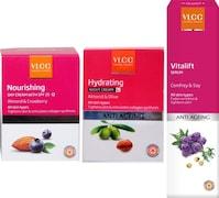 VLCC Nourshing Day Cream And Vitalift Serum (Pack of 3)