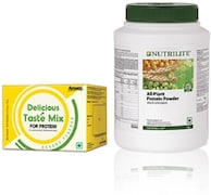 Amway Nutrilite All Plant Protein Powder (Banana, 1KG, Pack of 2)