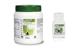 Amway Nutrilite Protein Powder With Green Tea (500GM, Pack of 2)