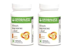 Herbalife Nutrition Afresh Energy Drink Mix (Peach, 50GM, Pack of 2)