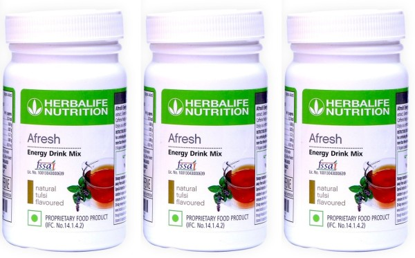 Herbalife Nutrition Afresh Energy Drink Mix (Tulsi, 50GM, Pack of 3)