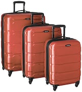 Samsonite Omni PC Spinner Luggage (Brunt Orange, Pack of 3)