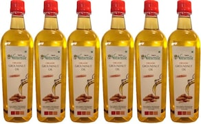 Farm Naturelle Organic Cold Pressed Groundnut Oil (915ML, Pack of 6)