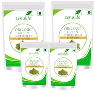 Zenulife Organic Green Bean Coffee (Green, 25GM, Pack of 4)