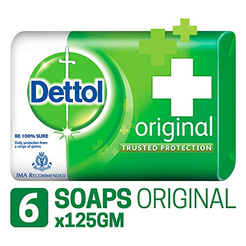 Dettol Original Bar Soap (125GM, Pack of 6)