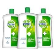 Dettol Original Liquid Soap Jar (900ML, Pack of 3)