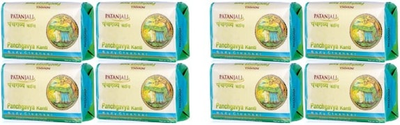 Patanjali Panchgavya Kanti Body Cleanser (75GM, Pack of 8)