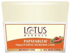 Lotus Herbals Papayablem Papaya-N-Saffron Anti-Blemish Cream (50GM)