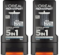 Loreal Paris Men Expert Total Clean Carbon Shower Gel (300ML, Pack of 2)