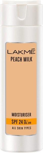 Lakme Peach Milk Moisturiser Sun Screen Lotion SPF 24 (Peach, 200ML)