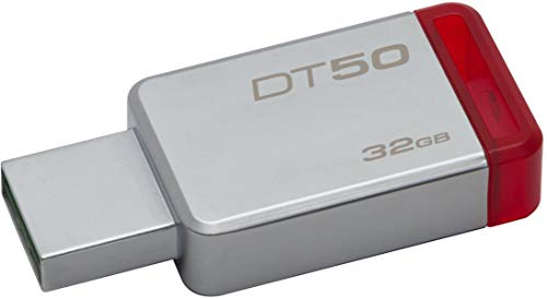 Kingston DataTraveler 50 USB 3.0 32GB Pen Drive (Red & Silver)