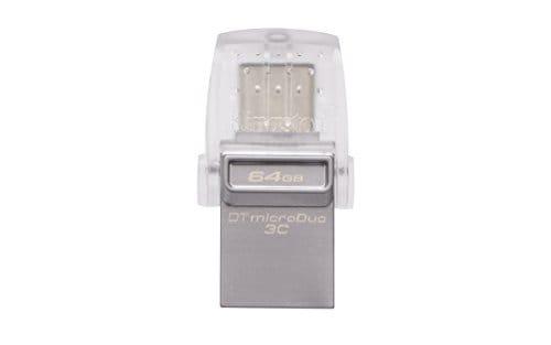 Kingston DataTraveler MicroDuo 3C USB 3.0 64GB Pen Drive (Silver)