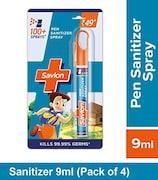 Savlon Pen Spray Hand Sanitizer (9ML, Pack of 4)
