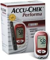 Accu-Chek Performa Glucometer (10 Strips, White)