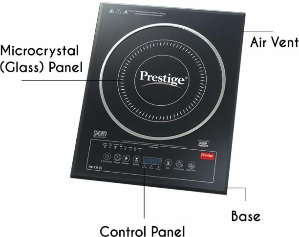 Prestige PIC 2.0 V2 2000 W Induction Cooktops (Black)