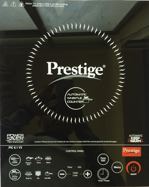 Prestige PIC 6.1 V3 2000 W Induction Cooktops (Black)