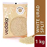Vedaka Popular Urad Dal (White, 1KG)