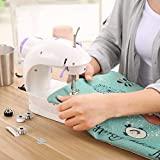 Ibubble Portable Mini Electric Sewing Machine (White)