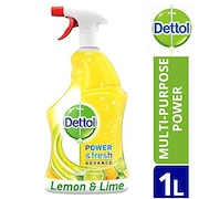 Dettol Power And Fresh Advance Multi-Purpose Lemon And Lime Spray (1LTR)