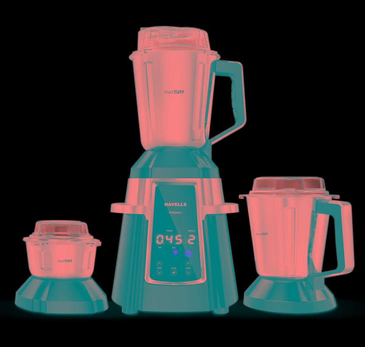 Havells Premio 750W Mixer Grinder (Black, 3 Jar)