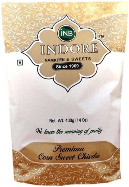 INB INDORE Premium Corn Sweet Chiwda Namkeen (400GM)